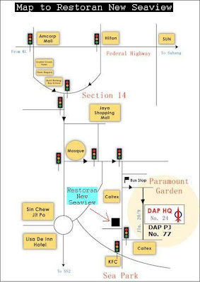 map to New Seaview Restaurant, Paramount Garden, Petaling Jaya