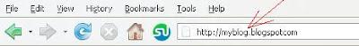 web browser address bar