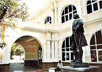 Penang Museum with statue of Francis Light