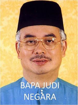 Najib bapa judi or father of gambling