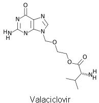 Valtrex (Valacyclovir) chemical structure