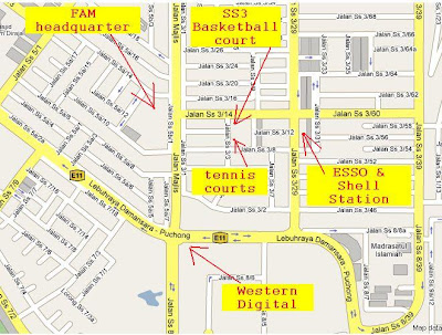 zoom in SS3 Petaling Jaya basketball location map