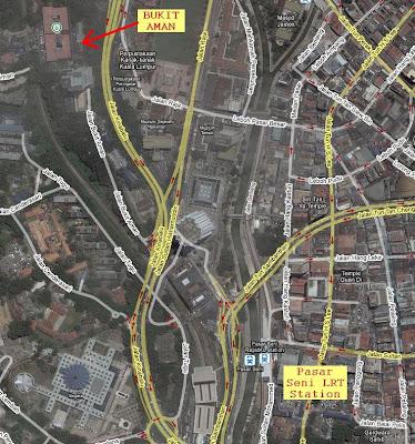 location map of Bukit Aman Kuala Lumpur