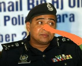 liar CPO Khalid abu bakar grew a long nose