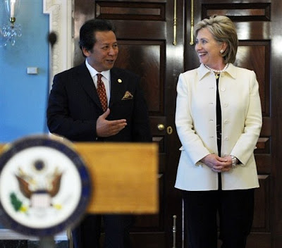 Anifah Aman with Hilary Clinton