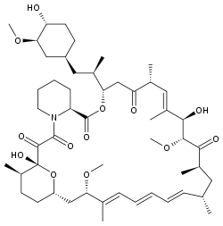 molecular structure of Rapamycin (Sirolimus)