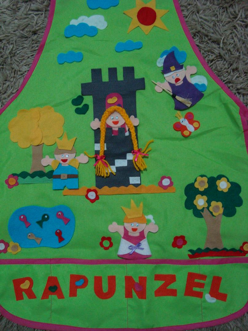 Muitas vezes avental de história: Avental Rapunzel WB38
