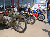 Classic motorcycles on display at the annual Spring vintage show.