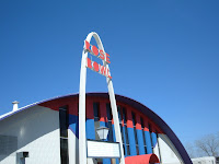 Tulsa's futuristic Rose Bowl is a landmark on Route 66.