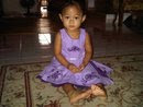 Adik Mirza with ZARA Purple Dress