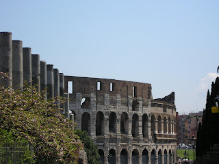 Colosseum of rome, italy, in love with rome