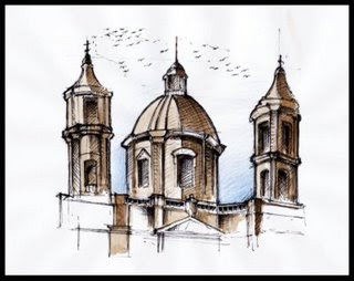 rome city sketches, rome en images, italie
