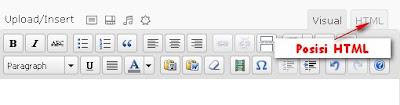 Tab HTML kolom postingan pada Wordpress
