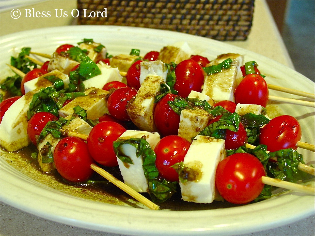 Bless Us O Lord...: Caprese Salad Skewers