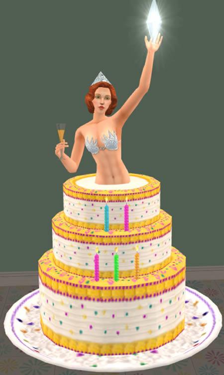 Фото девушка выпрыгивает из торта