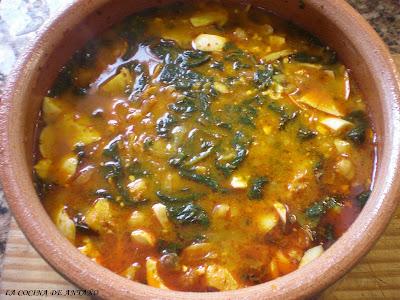 La cocina de anta o potaje de bacalao con garbanzos - Garbanzos olla express ...