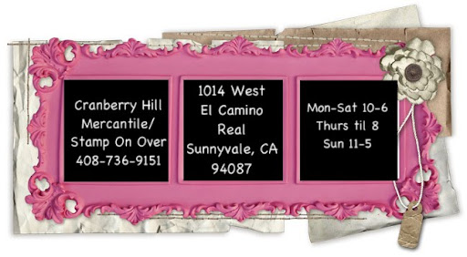 STAMP ON OVER at  CRANBERRY HILL MERCANTILE