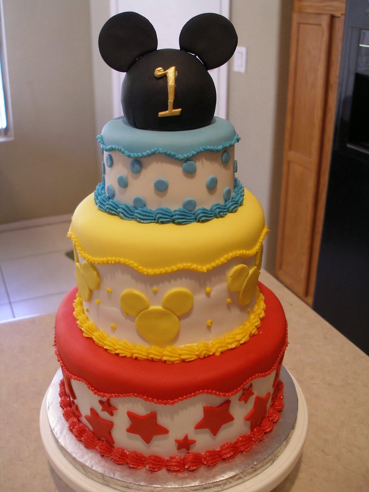 Mickey Mouse Cake, Happy Birthday, Cake Ideas, 1St ...