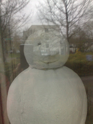 reflections, snowman