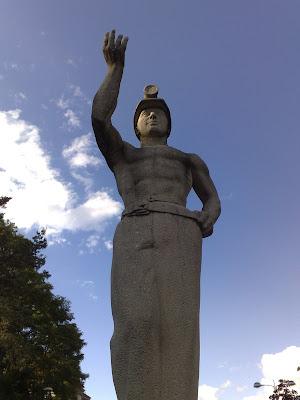 miner, statue