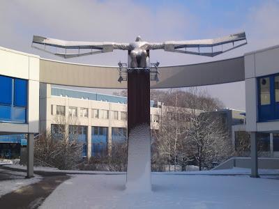 statue,  snow