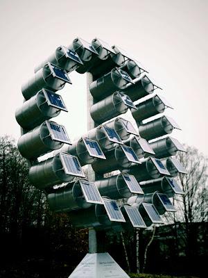 sculpture, solar panel,