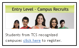 TCS  Campus Recruitment