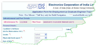 ECIL GET Recruitment 2012 Online Form