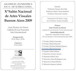 Invitación Xº Salón Nacional de Artes Visuales
