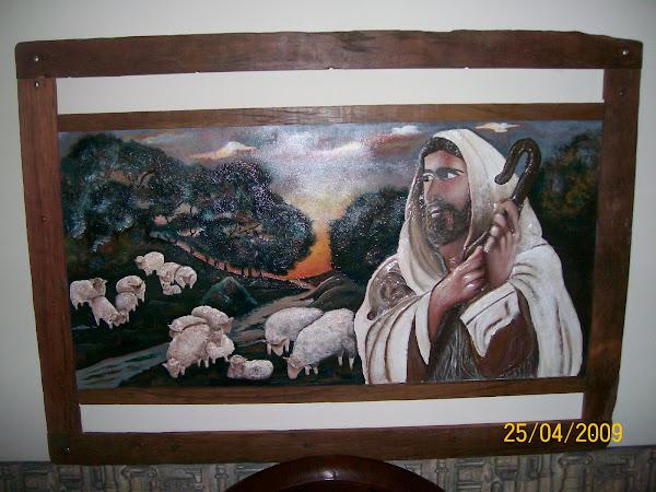 Jesus, buen pastor. 1,35mts x 0,95 mts.