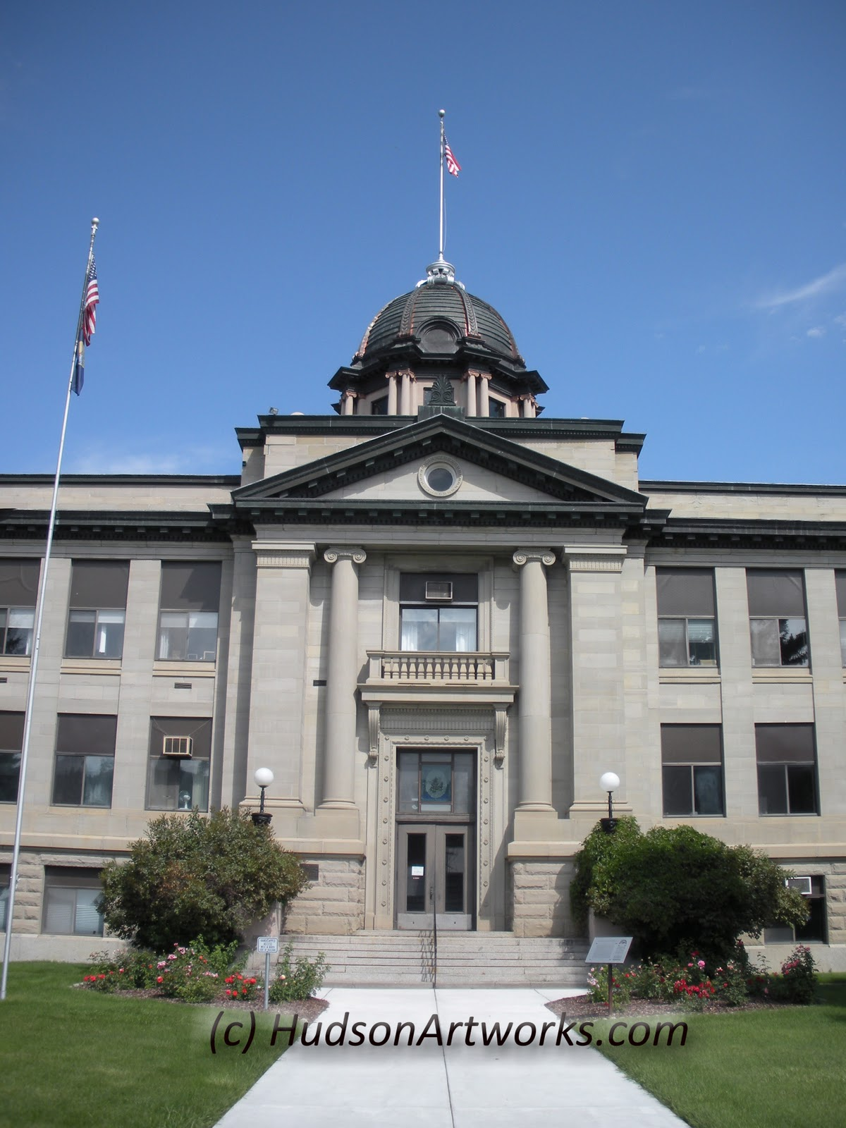 Montana rosebud county forsyth - Here Is A Photo I Took Of The Rosebud County Courthouse You Will See That This Building Is Much Like The Divide County North Dakota County Courthouse From