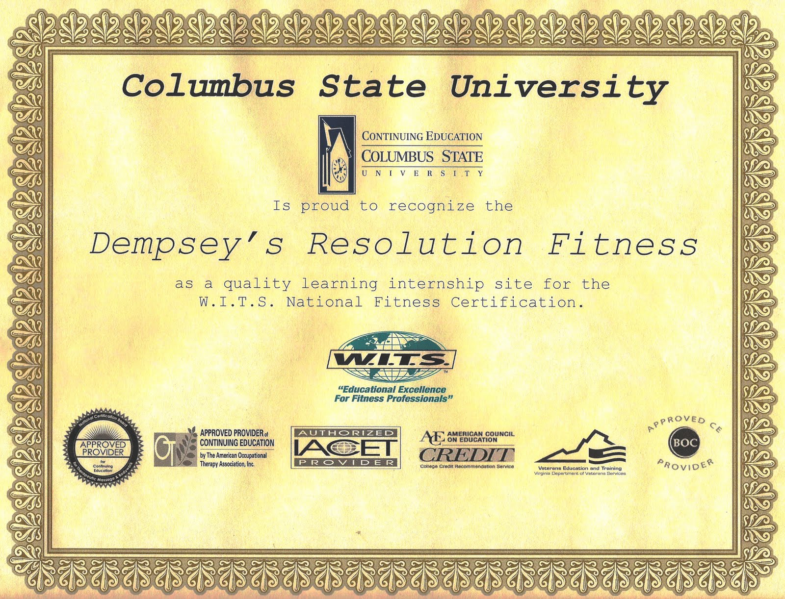Dempseys Resolution Fitness July 2010