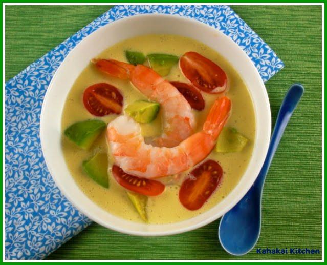 Kahakai Kitchen: Cold Southwestern Corn and Shrimp Soup ...