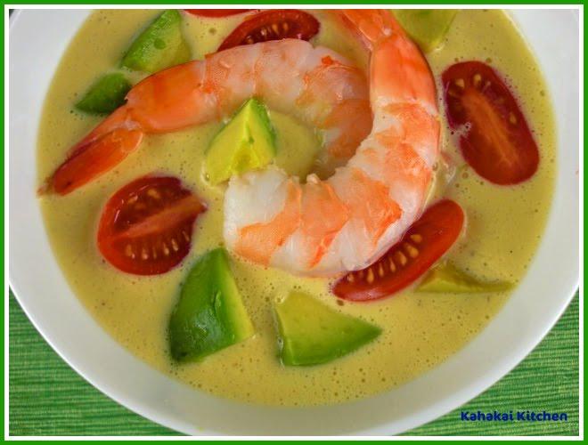 Kahakai Kitchen: Cold Southwestern Corn and Shrimp Soup: Quick, Easy ...
