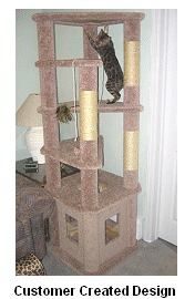 Cool cat tree plans 11 cat tree plans with a 24 x 24 base for Build your own cat scratch tower
