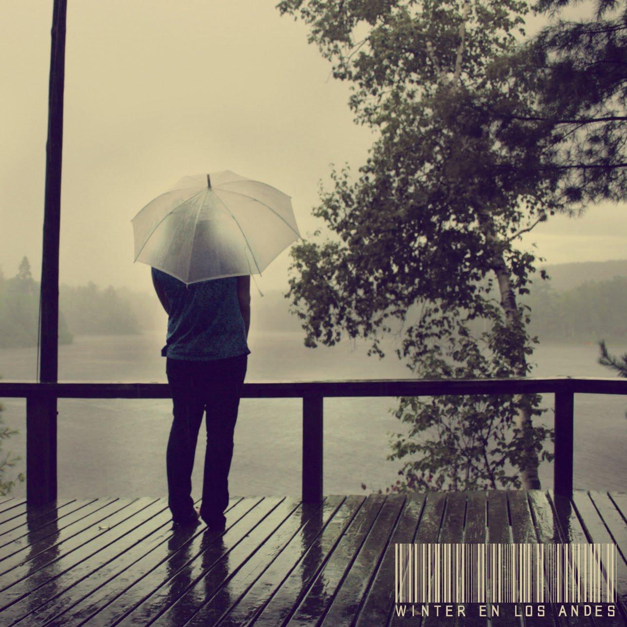 winter en los andes gotas de lluvia en la obscuridad