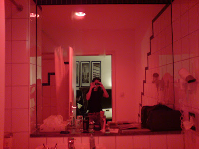 hotel is located near the red light district in the city until he drove  around locating the place he booked it online  Which explains why the  bathroom  First trip entry  Frankfurt   Munich city   Munich Travel Blog. Red Light In Bathroom Hotel. Home Design Ideas