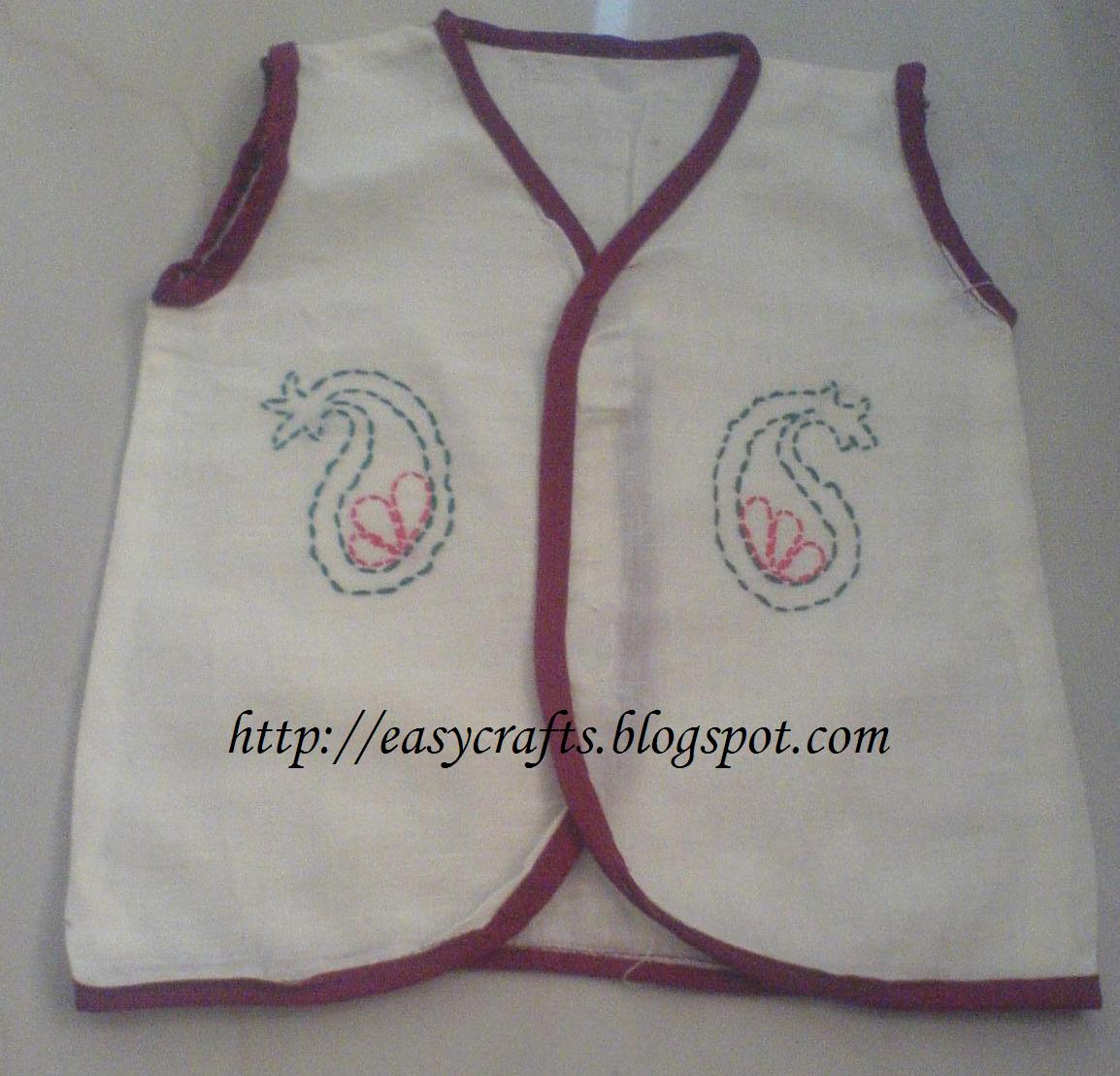 Easy Crafts - Explore your creativity: New born baby dress pattern 2