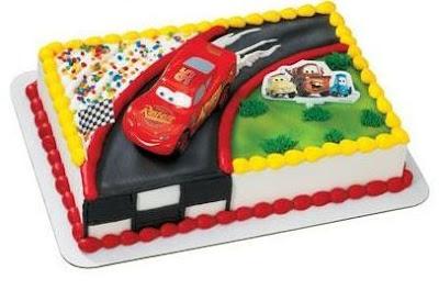 Cupcake Decorations: Lightning McQueen