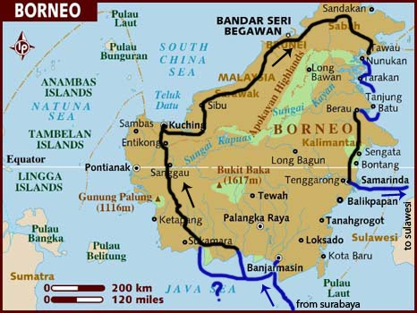 BROOKLYN TO BROOKLYN maps and route planning for borneo and sulawesi