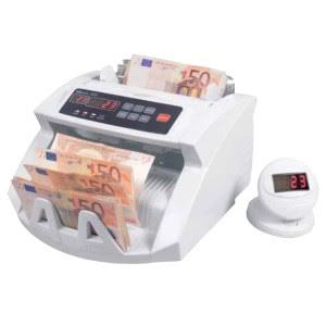 detector de billetes falsos y contador de monedas