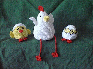 virka höna, virka kyckling