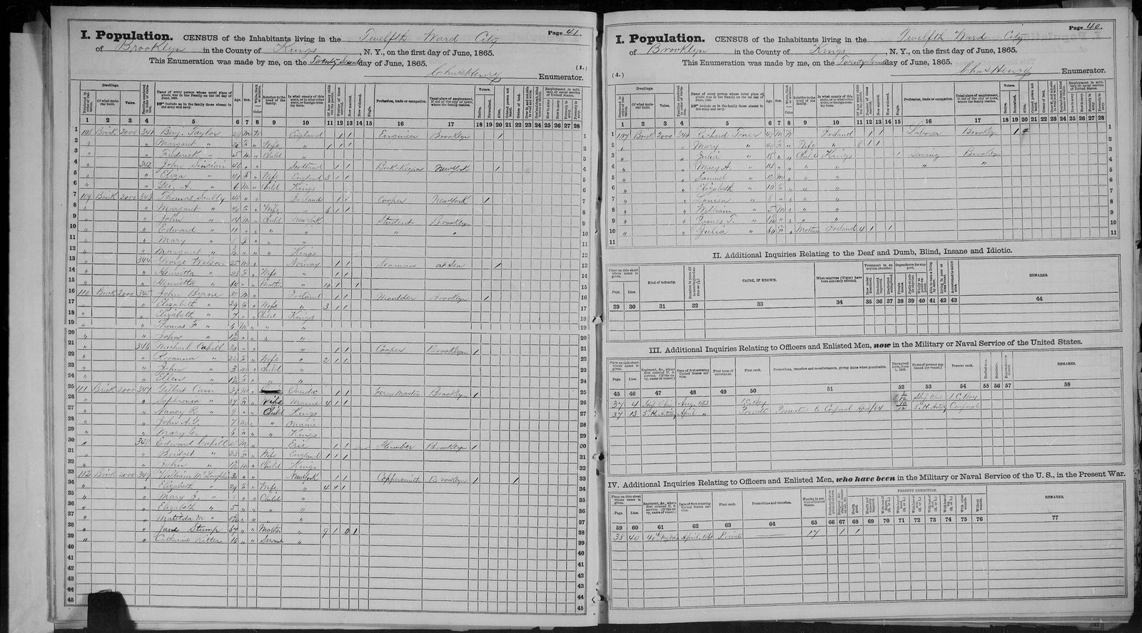 [1865+NYS+Census+Toner+Family]