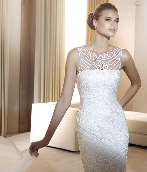 foto de vestido de renda branco
