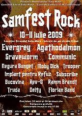 Samfest 2009 Afissamrock09