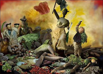 Obras famosas feitas com vegetais