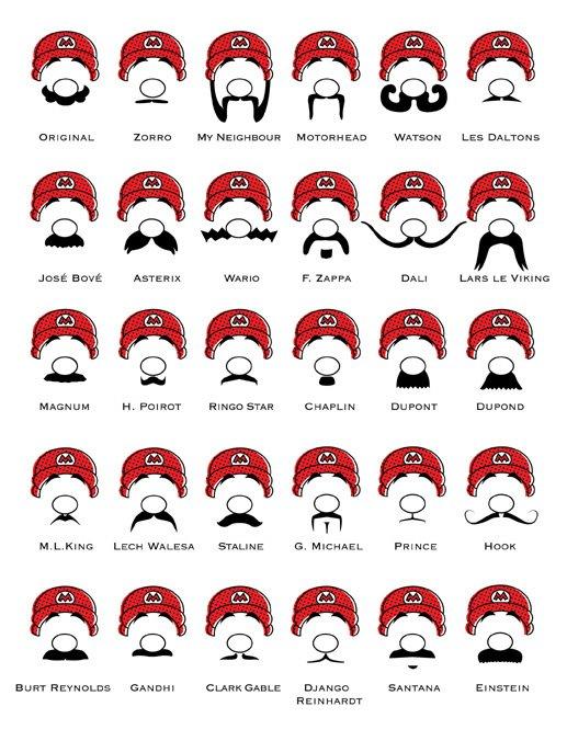 E se o Mario tivesse outro bigode?