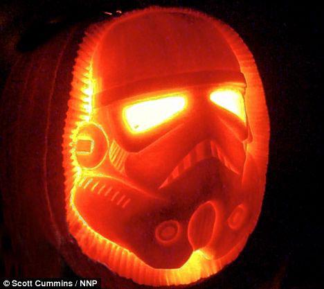 Esculturas de Star Wars em abóboras