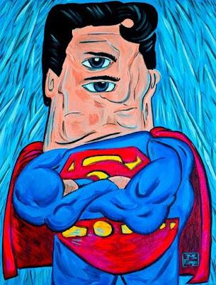 Super-heróis desenhados por Picasso