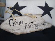 Ute for å prøve fiskelykken....